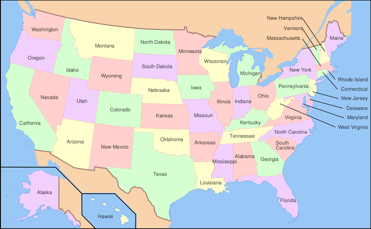 Usa States With Abbreviations